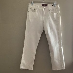 Lucky Brand White Sweet 'N Crop Jeans EUC